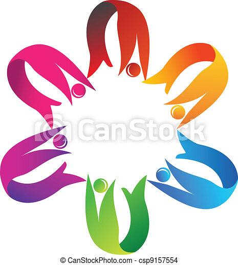 Teamwork helping logo - csp9157554