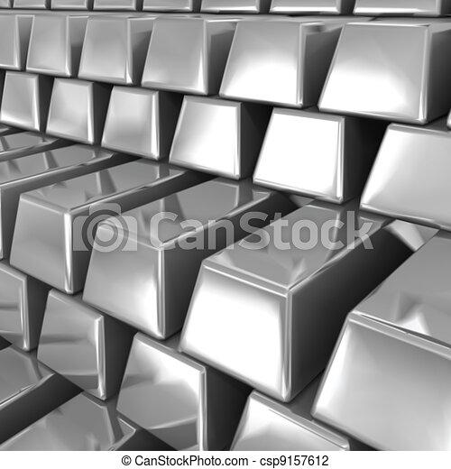 Silver bars. Vector - csp9157612