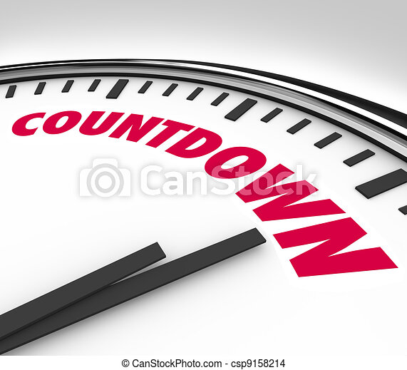 Countdown Clock Counting Down Final Hours and Minutes - csp9158214