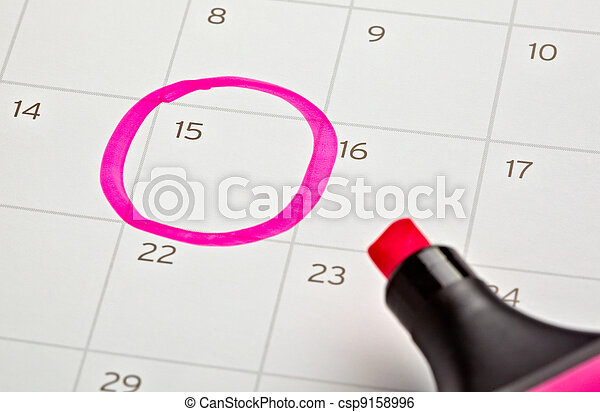 calendar marked important year - csp9158996
