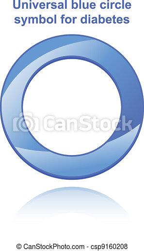 Universal blue circle symbol for diabetes - csp9160208
