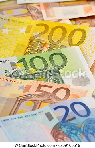 Composition with Euro banknotes - csp9160519