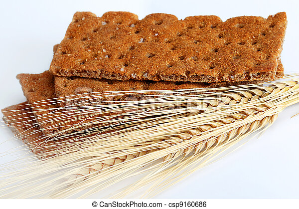 Dry diet crisp breads with oats spikelets - csp9160686