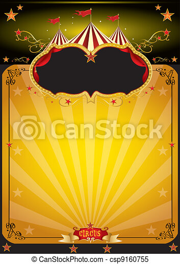 Magic orange circus poster - csp9160755