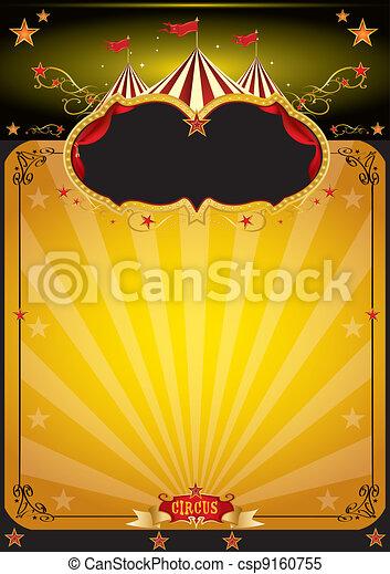 Magic orange circus poster - csp9160755