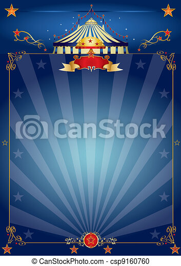 Magic blue circus poster - csp9160760