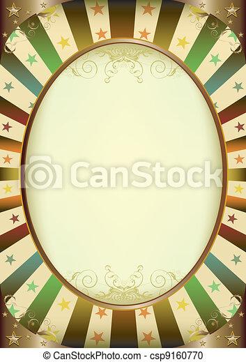 Multicolor Sunbeams frame poster - csp9160770