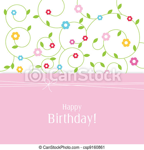 Greeting card with copy space - csp9160861