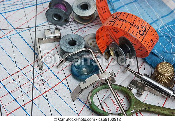 still life of spools of thread - csp9160912