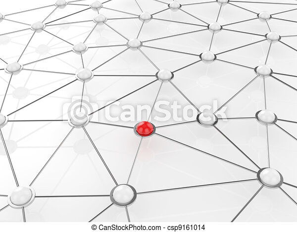 Abstract connection network concept - csp9161014