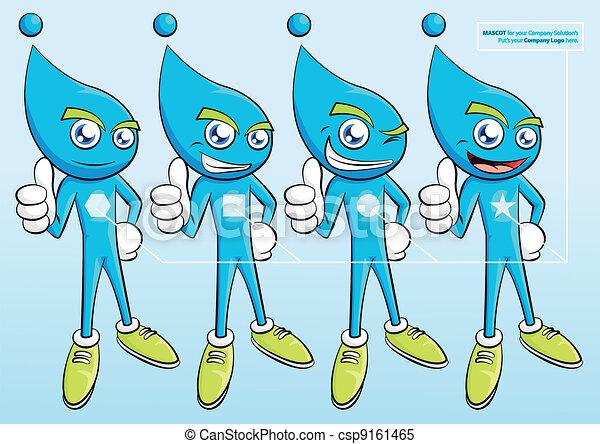 Fluid Mascot Template - csp9161465