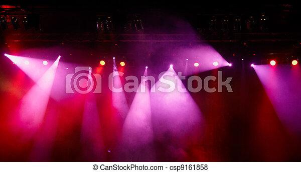 Concert Light Show - csp9161858