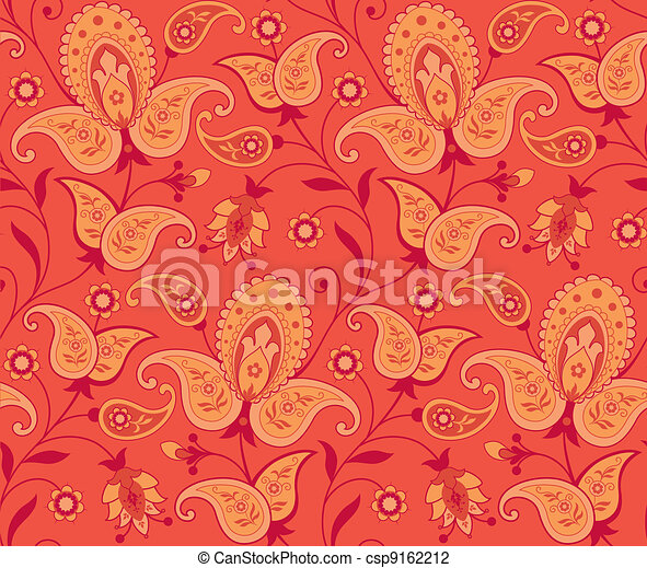 Seamless ornate background - csp9162212