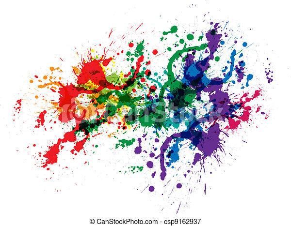 Color paint splashes - csp9162937