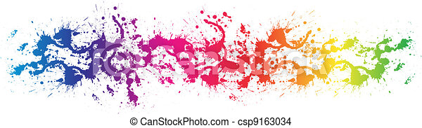 Color paint splashes - csp9163034