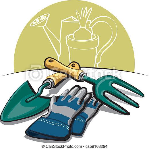 Eps vector de guantes jardiner a herramientas - Guantes jardineria ...