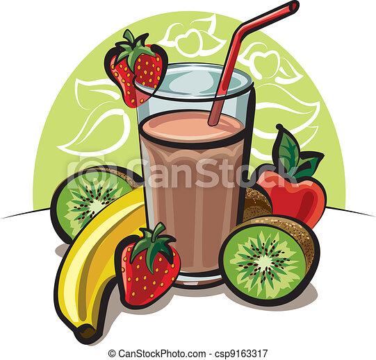 Illustrazioni vettoriali di frutta cocktailcsp9163317 for Clipart frutta