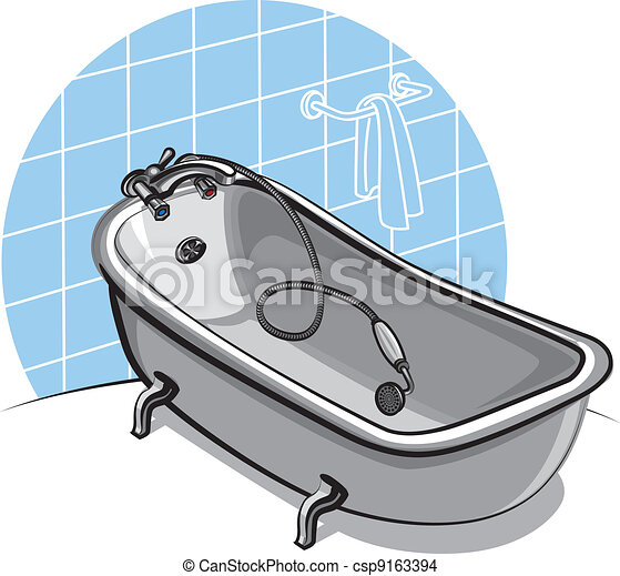 Vettore eps di vasca bagnocsp9163394 cerca clipart - Vasca da bagno dwg ...