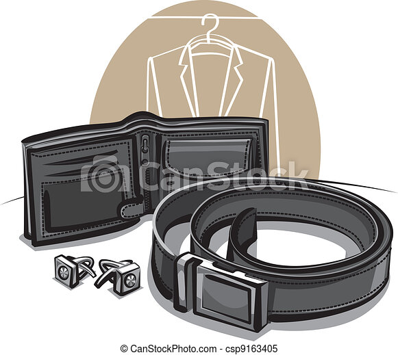 belt, wallet and cuff links - csp9163405