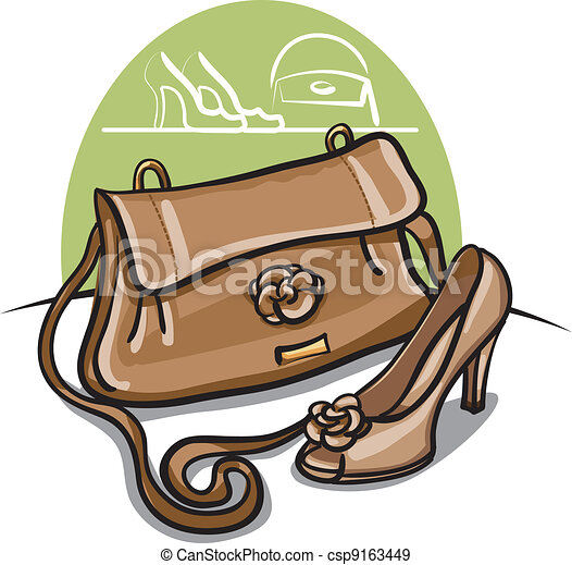 beige shoe and handbag  - csp9163449