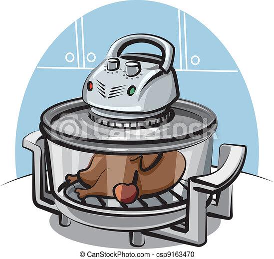 aero grill with roast chicken - csp9163470