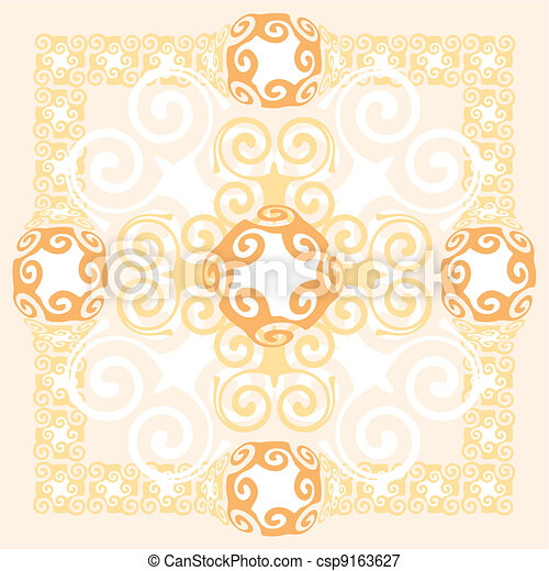 Abstract Background Ornament Design - csp9163627