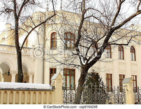 house was built in 1898, designed by the academician of architecture Shekhtel for millionaire Morozov - csp9164248