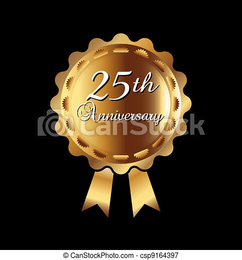 25th anniversary ribbon - csp9164397