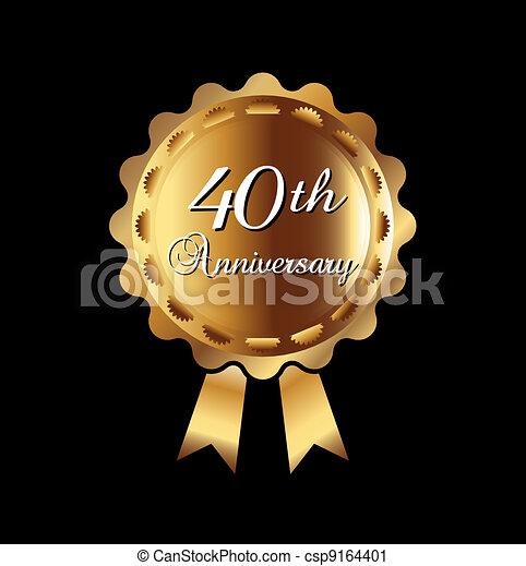 40th  anniversary ribbon - csp9164401