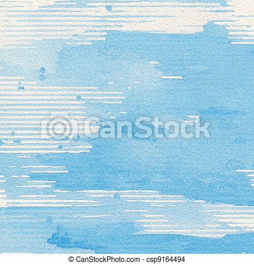Watercolor background - csp9164494