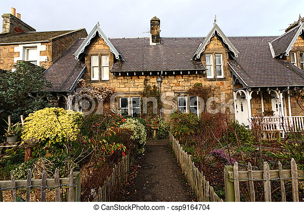 Stock photo of beautiful old traditional scottish houses for Beautiful classic houses