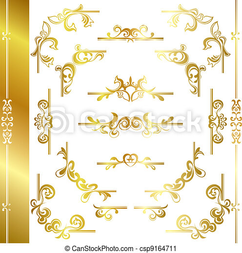 Gold luxury frame - csp9164711