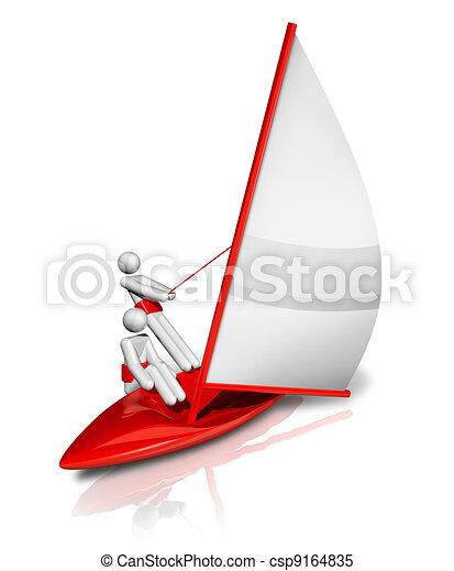 Sailing 3D symbol - csp9164835