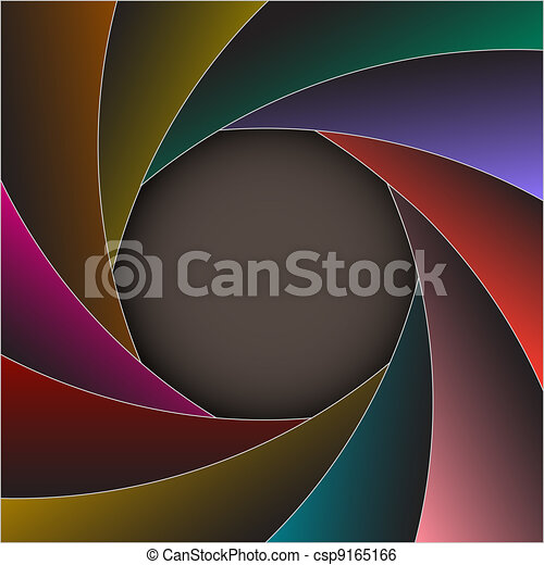 Colorful shutter photo frame - csp9165166