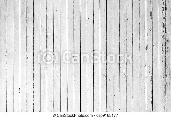 Weathered white wood - csp9165177