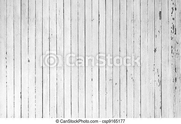 Weathered white wood - csp9165177