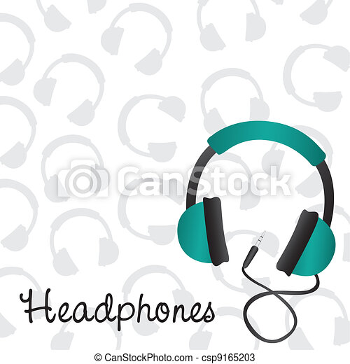 headphones turquoise - csp9165203