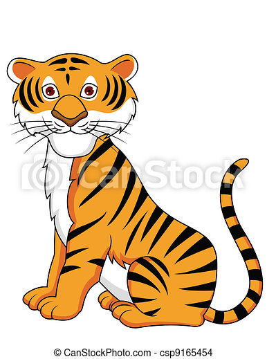 tecknad tiger
