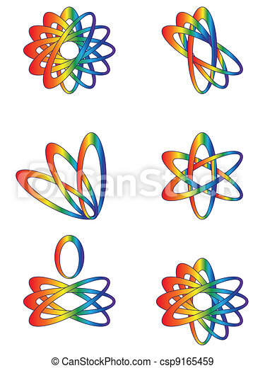 Link logos, set, vector. - csp9165459