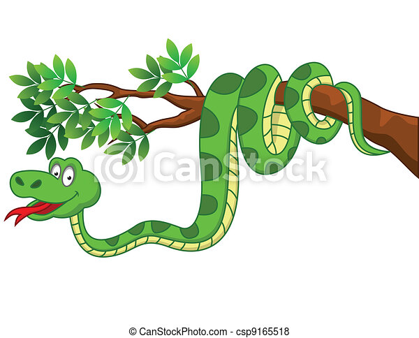 Snake cartoon  - csp9165518