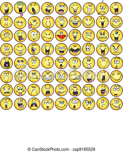 Emoticons emotion Icon Vectors - csp9165529