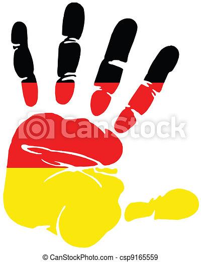 Handprint for Germany - csp9165559