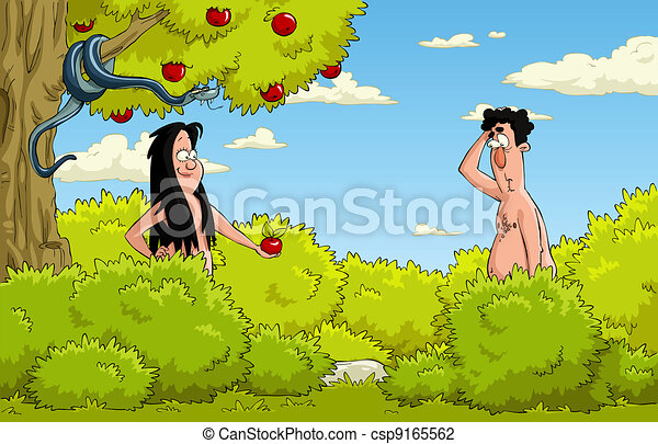 Adam and Eve - csp9165562