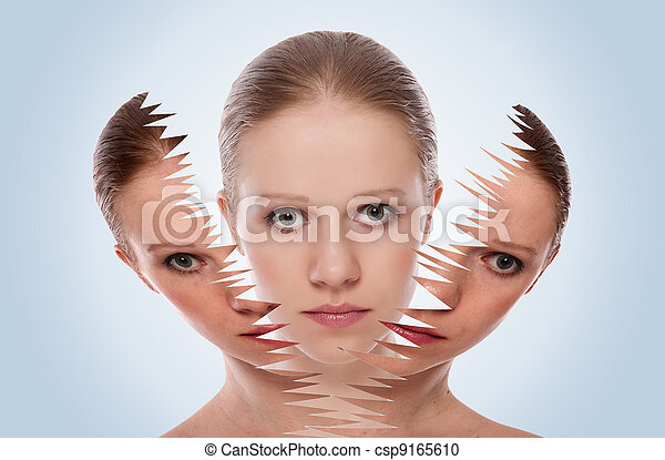 cosmetic effect, treatment and care of the skin of female face - csp9165610