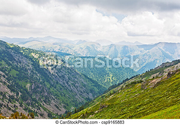 Simple mountains landscape. Altai, Siberia - csp9165883