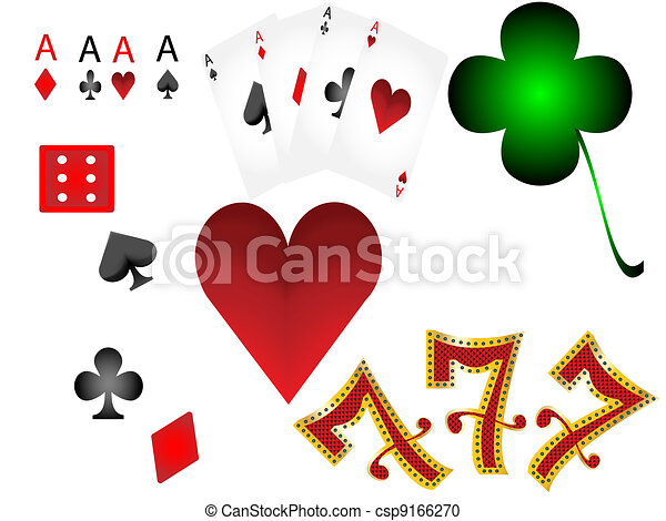 lucky7 gambling playing card set - csp9166270