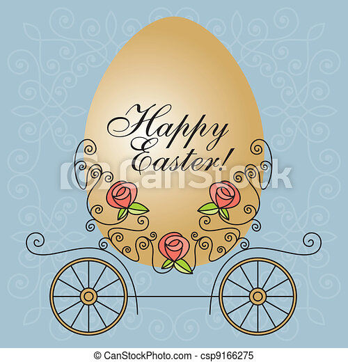 easter carriage - csp9166275