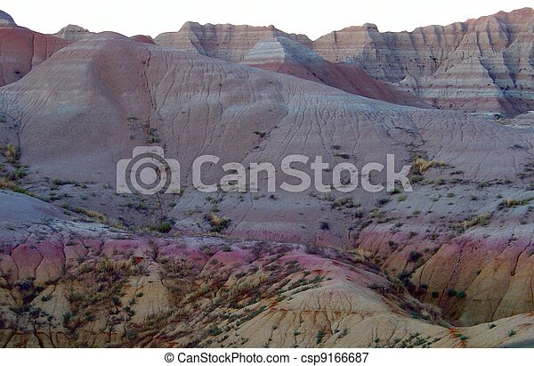 Badlands at Dusk - csp9166687