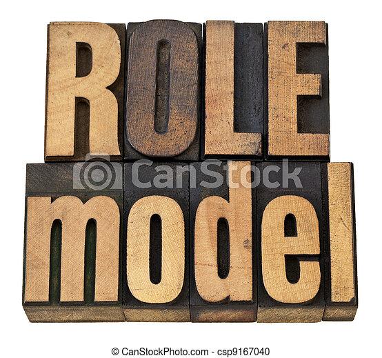 role model in letterpress type - csp9167040