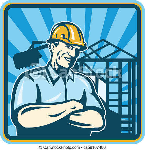 Construction Engineer Foreman Worker - csp9167486